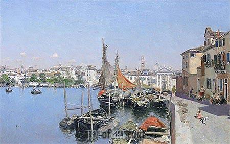 Martin Rico y Ortega | A Venetian Waterfront, undated