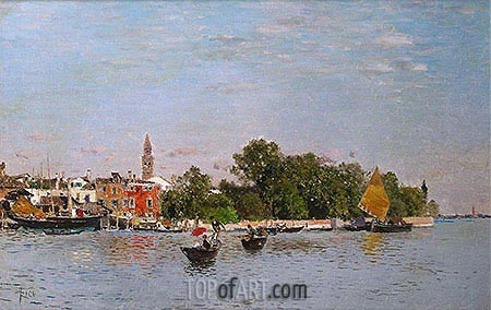 The Public Gardens, Venice, undated | Martin Rico y Ortega| Painting Reproduction