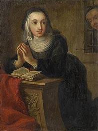 Kneeling Nun (Verso), c.1731 von Martin van Meytens | Gemälde-Reproduktion