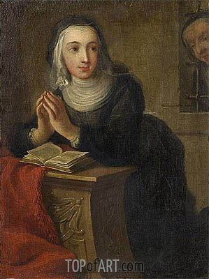 Kneeling Nun (Verso), c.1731 | Martin van Meytens | Painting Reproduction