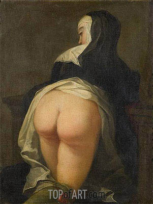 Kneeling Nun (Recto), c.1731 | Martin van Meytens | Painting Reproduction
