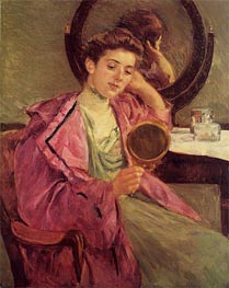 Woman at Her Toilette, 1909 by Cassatt | Painting Reproduction