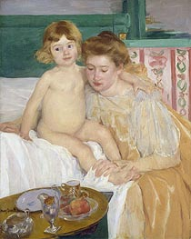 Mother and Child (Baby Getting Up from His Nap) | Cassatt | Painting Reproduction