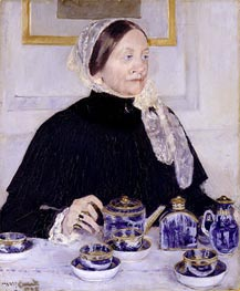 Lady at the Tea Table | Cassatt | Painting Reproduction
