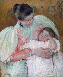 Nurse and Child, c.1896/97 by Cassatt | Painting Reproduction