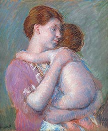 Mother and Child, 1914 by Cassatt | Painting Reproduction