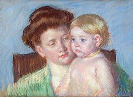 Mother and Child, c.1910 by Cassatt | Painting Reproduction