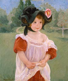 Spring: Margot Standing in a Garden, 1900 by Cassatt | Painting Reproduction