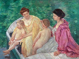 The Bath, c.1895 by Cassatt | Painting Reproduction
