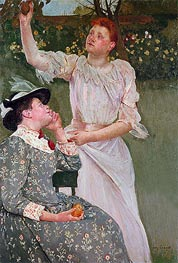 Women Picking Fruit, 1891 by Cassatt | Painting Reproduction