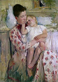 Mother and Child, 1890 by Cassatt | Painting Reproduction