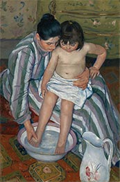 The Child's Bath, 1893 by Cassatt | Painting Reproduction