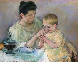 Mother Feeding Child, 1898 by Cassatt | Painting Reproduction