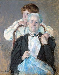Portrait of Mrs. Cyrus J. Lawrence with Her Grandson, c.1898/99 by Cassatt | Painting Reproduction