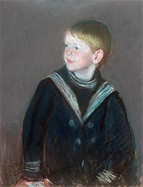 Sailor Boy: Portrait of Gardner Cassatt as a Child, 1892 by Cassatt | Painting Reproduction