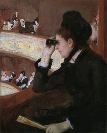 In the Loge, 1878 by Cassatt | Painting Reproduction