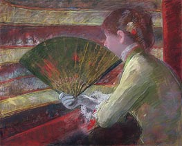 In the Loge, c.1879 by Cassatt | Painting Reproduction