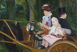 A Woman and a Girl Driving | Cassatt | veraltet