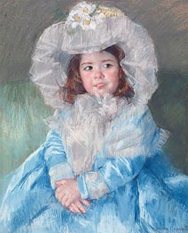Margot In Blue, 1902 by Cassatt | Painting Reproduction
