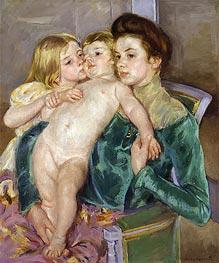 The Caress | Cassatt | Gemälde Reproduktion