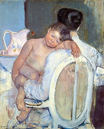 Woman Sitting with a Child in Her Arms | Cassatt | veraltet