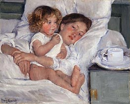 Breakfast in Bed | Cassatt | veraltet