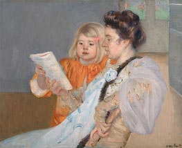 The Reading Lesson | Cassatt | veraltet
