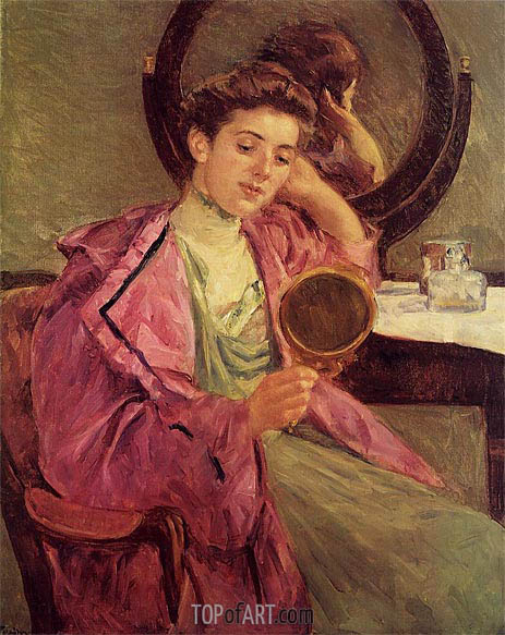 Cassatt | Woman at Her Toilette, 1909
