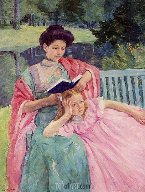 Cassatt | Augusta Reading to Her Daughter, 1910