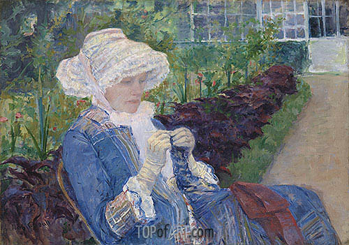 Cassatt | Lydia Crocheting in the Garden at Marly, 1880