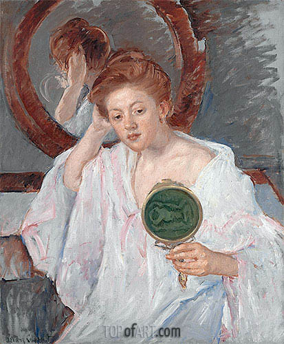 Denise at Her Dressing Table, c.1908/09 | Cassatt | Painting Reproduction