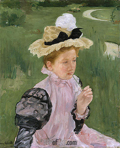 Portrait of a Young Girl, 1899 | Cassatt| Painting Reproduction