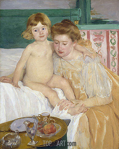 Mother and Child (Baby Getting Up from His Nap), c.1899 | Cassatt| Painting Reproduction