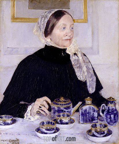 Lady at the Tea Table, c.1883/85 | Cassatt| Painting Reproduction