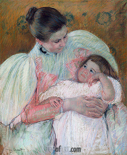 Nurse and Child, c.1896/97 | Cassatt| Painting Reproduction