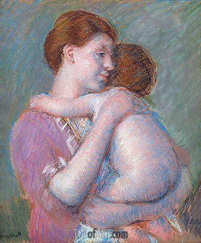 Mother and Child, 1914 | Cassatt| Painting Reproduction