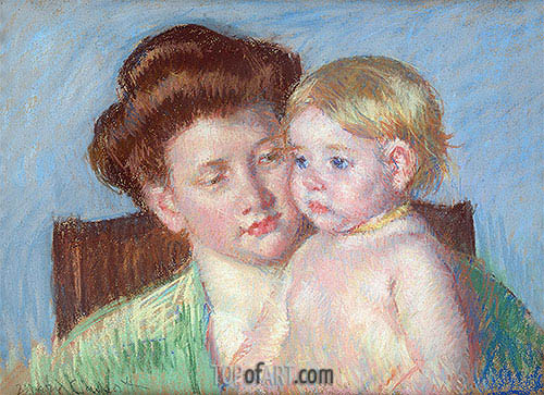 Mother and Child, c.1910 | Cassatt| Painting Reproduction
