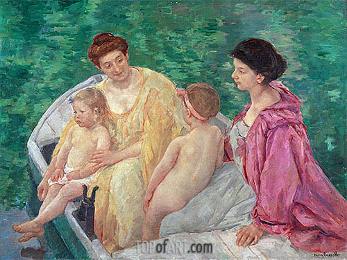 The Bath, c.1895 | Cassatt| Painting Reproduction