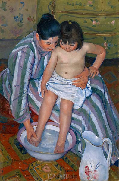 The Child's Bath, 1893 | Cassatt | Painting Reproduction