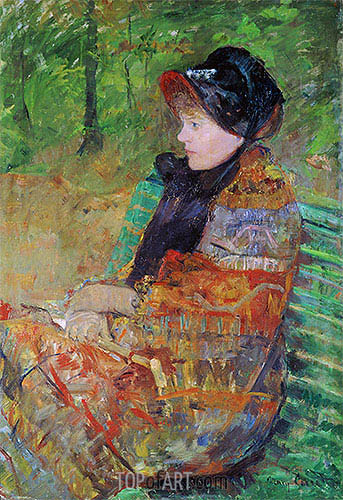 Lydia Cassatt (the Painter's Sister), 1880 | Cassatt| Painting Reproduction