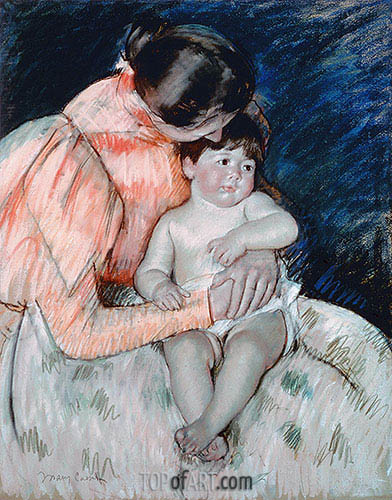 Mother and Child, 1893 | Cassatt | Painting Reproduction