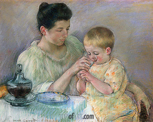 Mother Feeding Child, 1898 | Cassatt | Painting Reproduction
