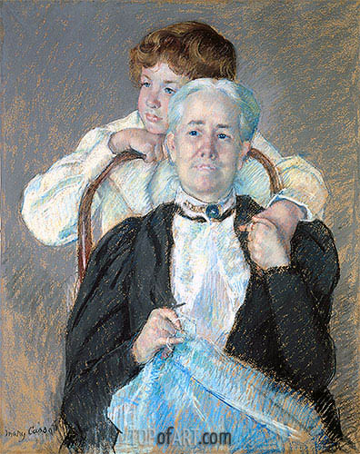 Portrait of Mrs. Cyrus J. Lawrence with Her Grandson, c.1898/99 | Cassatt| Painting Reproduction