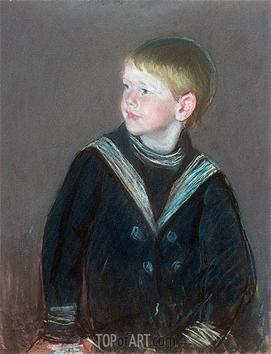 Sailor Boy: Portrait of Gardner Cassatt as a Child, 1892 | Cassatt| Painting Reproduction