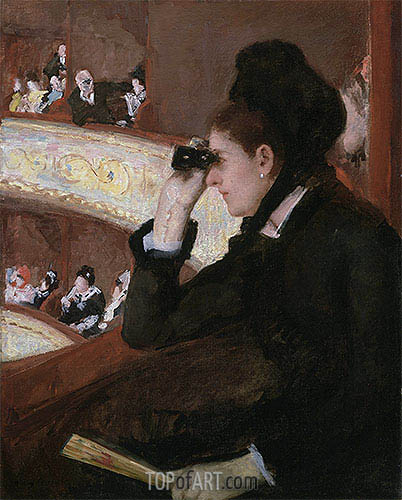 In the Loge, 1878 | Cassatt | Painting Reproduction
