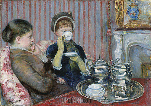 The Tea, c.1880 | Cassatt| Painting Reproduction