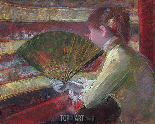 In the Loge, c.1879 | Cassatt | Painting Reproduction