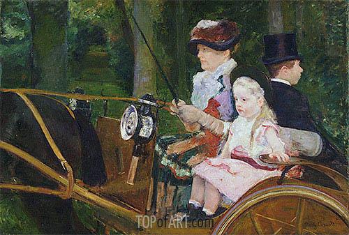 Cassatt | A Woman and a Girl Driving, 1881