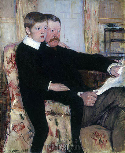Portrait of Alexander Cassatt and His Son, 1884 | Cassatt | Painting Reproduction