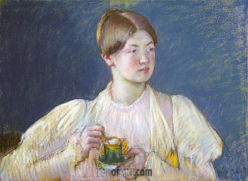 The Teacup, 1897 | Cassatt | Painting Reproduction